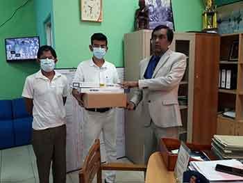 Medicine donation to cancer hospital